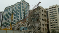 Collapsed building Stock Footage
