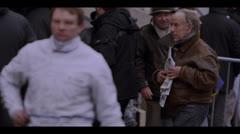 JOCKEY WALKING AFTER RACE (SLOW-MOTION) Stock Footage
