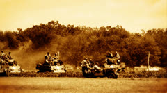 Tank Battle 03 flicker Stock Footage