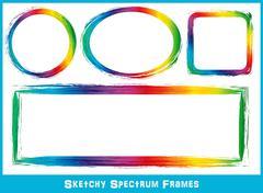 Sketchy Spectrum Frames - stock illustration