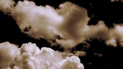 Blast off smoke (clouds, black sky) - stock footage
