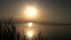 Stock Video Footage of 014 Sea of Azov, Ukraine, sunset above a salt estuary