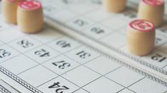Bingo loto Stock Footage