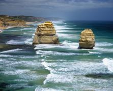 Twelve Apostles Sea Rocks, Australia - stock photo