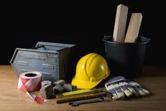 Carpentry equipment Stock Photos