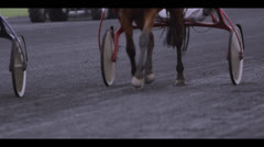 HARNESS RACING - HORSES APPROACHING 6 Stock Footage