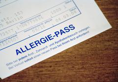 Medical Allergy Pass Stock Photos