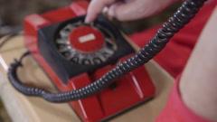 Rotary telephone Stock Footage
