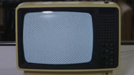 Stock Video Footage of Vintage Tv