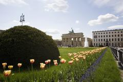 Brandenburg Gate in spring, Berlin, Germany Stock Photos