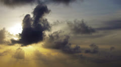 Overcast sky with sun rays through the clouds. timelapse Stock Footage