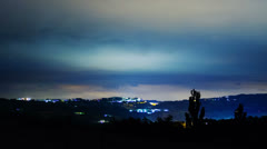 Clouds and mountains, night, time-lapse Stock Footage