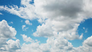 Stock Video Footage of Clouds, time-lapse, moving towards
