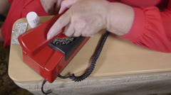 Emergency call 911 Stock Footage
