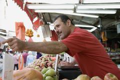 A market vendor Stock Photos