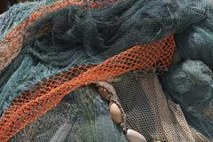 Commercial fishing nets Stock Photos