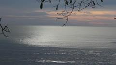 Colombia Caribbean dusk ocean sparkle Stock Footage