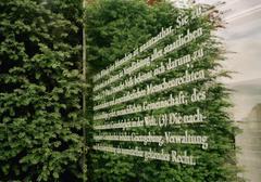 Saksan perustuslain kirjoitettu lasille, Berliini Kuvituskuvat