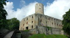ruins of castle - stock photo