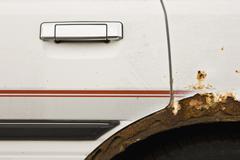 Rusted car, close up Stock Photos