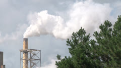Power Plant Pollution Stock Footage