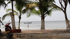 Colombia resort beach 2 Stock Footage
