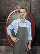 A vintner, portrait Stock Photos