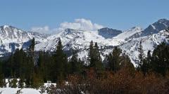 Snow mountains, time lapse 2 Stock Footage