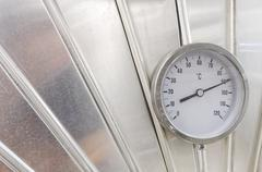 industrial thermometer - stock photo