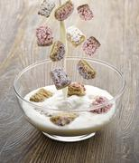 shredded wheat cereal - stock photo