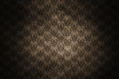 dark grunge wall background with retro pattern - stock photo
