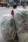 A refuse collector, New York Stock Photos