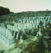A cemetery, Osaka, Japan Stock Photos