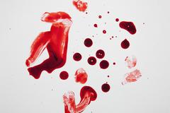Blood and fingerprints - stock photo