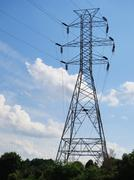 high tension wires - stock photo