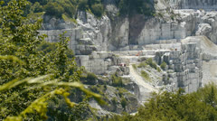Marble quarry Stock Footage
