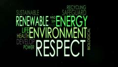 Stock Video Footage of Respect the environment