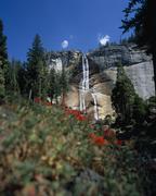 Waterfall, Yosemite National Park, California, USA Stock Photos