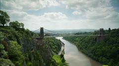 Clifton suspension bridge in bristol england Stock Footage