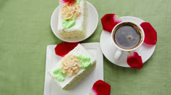 Whipped cream cake Stock Footage