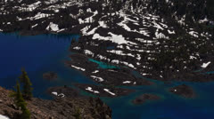 Beautiful waters of Crater Lake Stock Footage