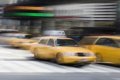 Yellow taxi's on a city street, Manhattan, New York City Kuvituskuvat