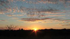Beautiful Sunset - Clouds and sun Stock Footage