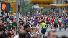 Gay parade in New York City - stock footage