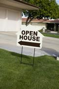 An OPEN HOUSE sign Stock Photos
