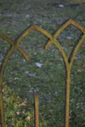 Detail of an old wrought iron fence Stock Photos