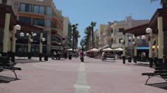Maltese impressions - Budgiba main Square Stock Footage