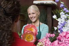 A florist - stock photo