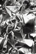 Crushed aluminum, full frame, background Stock Photos