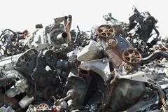 Scrap metal in a junkyard Stock Photos